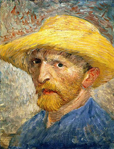 ($50-$4000 Hand Painted Art Paintings by College Teachers - Vincent Van Gogh Self Portrait Dutch Post-Impressionist Oil Painting Reproduction - Wall Decor Canvas Old Famous Works -Size01)