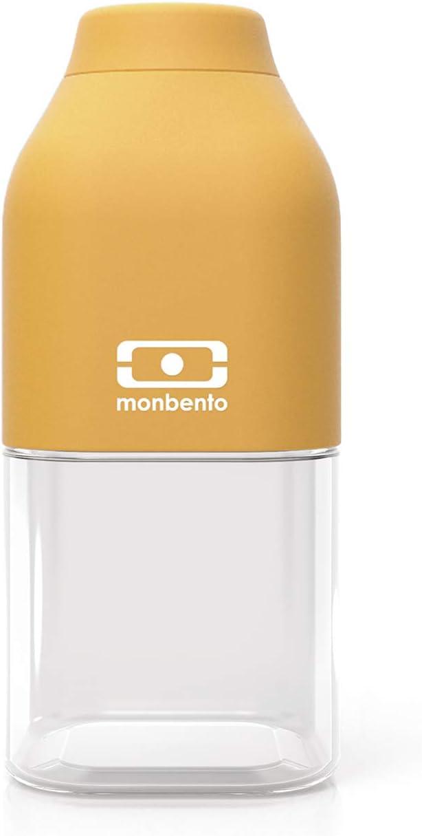 monbento - MB Positive S Amarillo Moutarde 33cl Botella Agua sin BPA - Botella Agua niños - Ideal para el Deporte y la Escuela