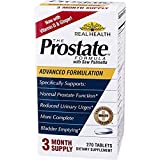 Real Health, The Prostate Formula with Saw Palmetto, 3 Pack (270 Tablets) Provides a Gentle