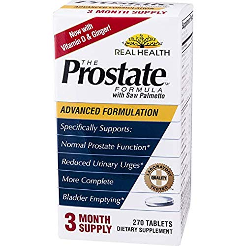 Real Health, The Prostate Formula with Saw Palmetto, 2 Pack (270 Tablets) Provides a Gentle