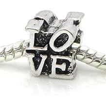 """Jewelry Monster """"Philadelphia Love Park Statue"""" Charm Bead for Snake Chain Charm Bracelets"""