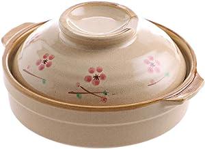 Terracotta Stew Pot Clay - Soup Pot Crock Pot Casserole Ceramic Saucepan Soup Pot High Temperature Resistant Cooking Pan For Gas Stove Cooker-H