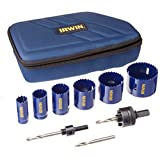 Irwin Industrial Tools 3073003 Electricians Hole Saw Kit, 9-Piece