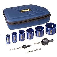 Irwin Industrial Tools 3073003 Juego de sierras de agujero para electricistas, 9 piezas