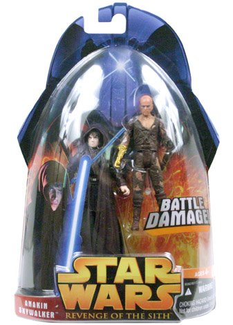 Star Wars - 2005 - Hasbro - Revenge of the Sith - Anakin Skywalker Battle Damage Action Figures - Collection 1 - New - Limited Edition - Collectible