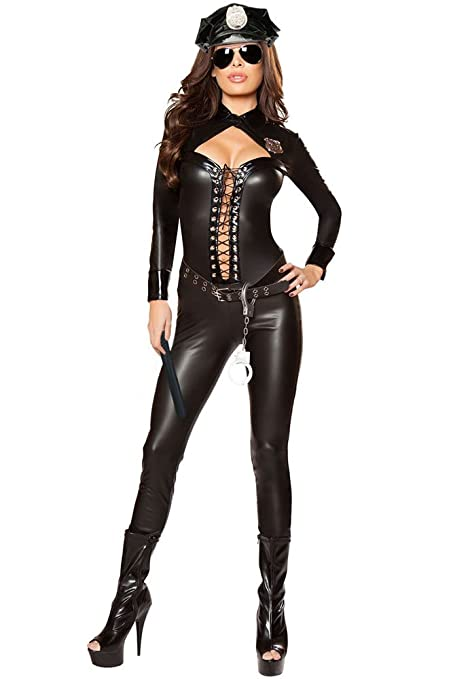 New Women S 6 Piece Police Cop Robbers Full Jumpsuit Fancy