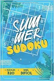 Summer Sudoku — 320 Puzzles - Nivel Difícil: Libro de