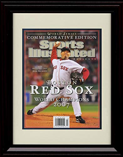 2007 Boston Red Sox Framed - Framed Josh Beckett - Sports Illustrated Boston Red Sox World Champs 2007 Autograph Replica Print