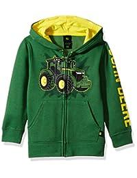 John Deere Boys Fleece Hoody Zip Front Hooded Sweatshirt