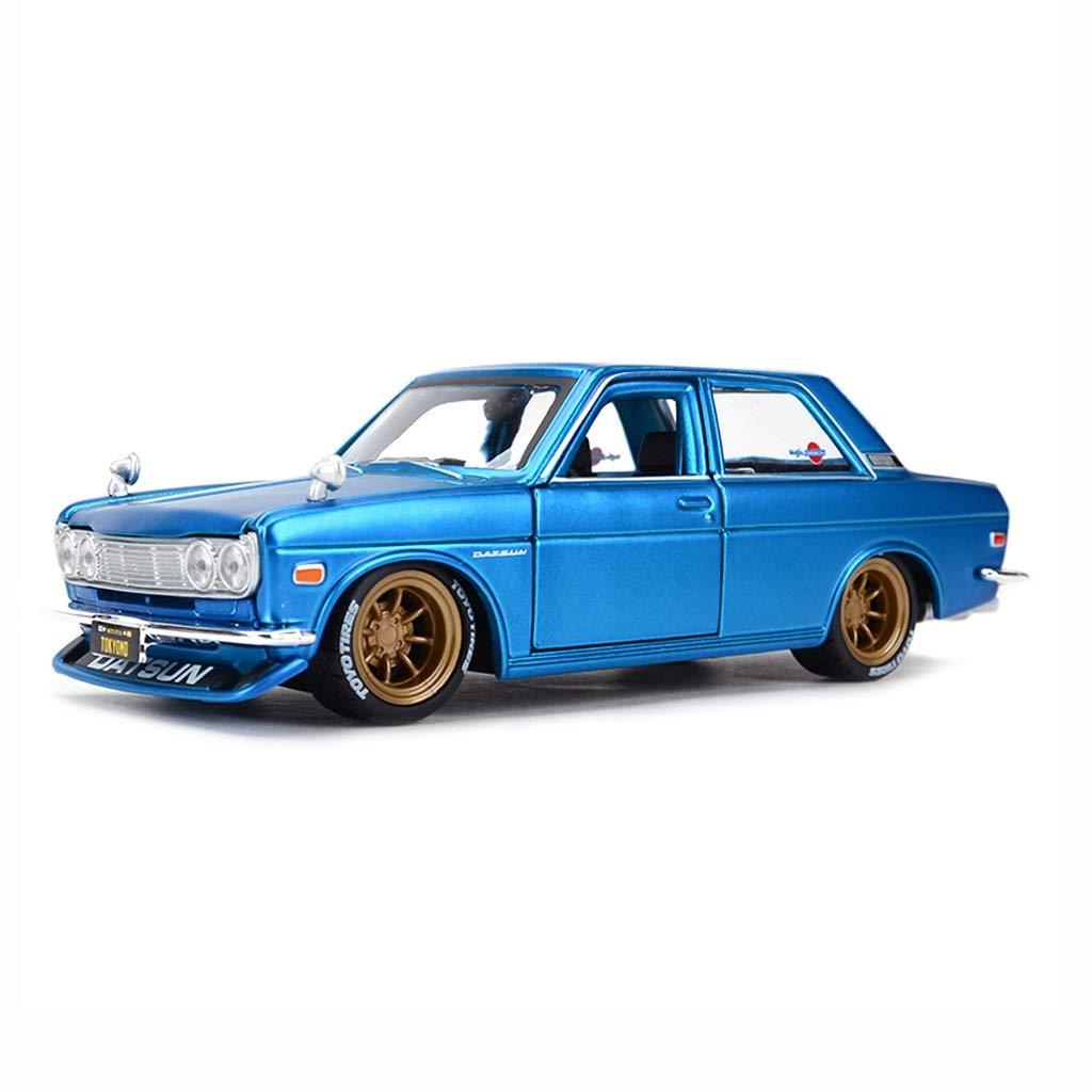 Auto Modello Nissan GTR Dartson Sports Car Original Statico Simulazione in Lega Auto Modello 1 24 Collezione di Ornamenti Regalo ( Colore   Blu )