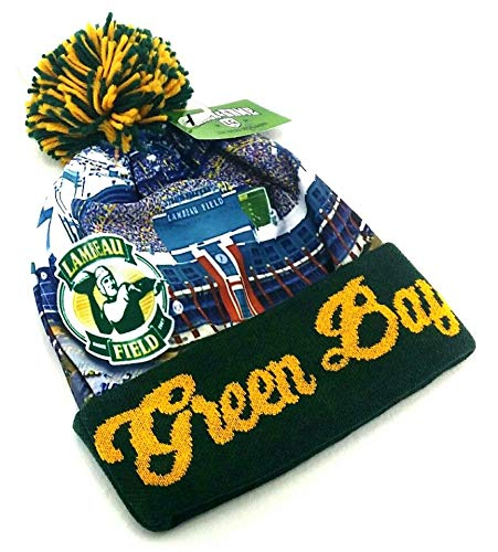 - Green Bay New Leader Stadium Beanie Toque Pom Packers Colors Green Knit Era Hat Cap