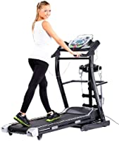 newgen medicals Profi-Laufband LF-412.multi mit Fitness-Station und Bandmassage