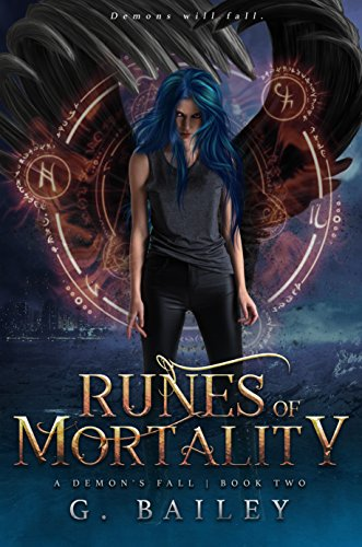 Runes of Mortality: A Reverse Harem Urban Fantasy (A Demon's Fall series Book 2) cover