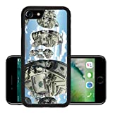 Liili Premium Apple iPhone 7 Aluminum Backplate Bumper Snap Case iPhone7 Symbolic floating faces with sureface of USA Currency IMAGE ID 14299861