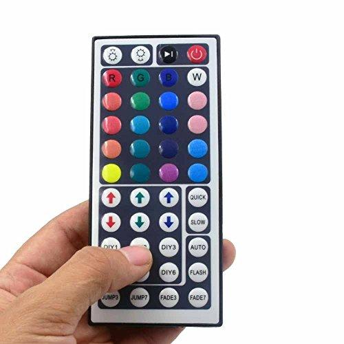 DAISEN 12V 44 Keys IR Remote Control for 5050 3528 5630 Flexible Color Changing LED Strip Lights, Led Tape Lights, Rope Lights, Ribbon Lights (44Key Remote) -  PJ-005