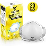 BIELCOR B200 N95 Particulate Respirator, 95% Filtration Breathing Face Masks Disposable (20 Pack), CDC | NIOSH Certified