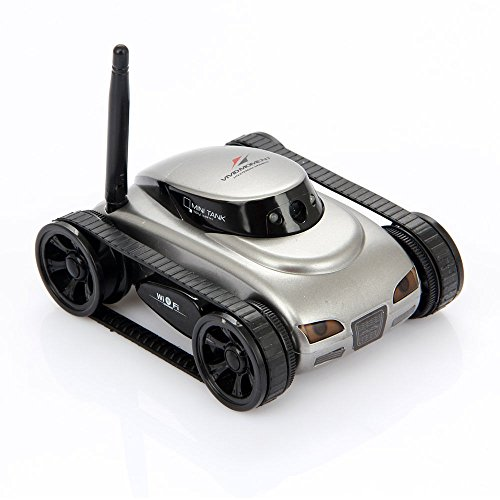 I-spy SPY Mini Tank Car Wifi App-controlled Move Motion and Video Camera for Iphone Android with 0.3mp Hd Camera (Grey) by Bo TOys (Image #3)