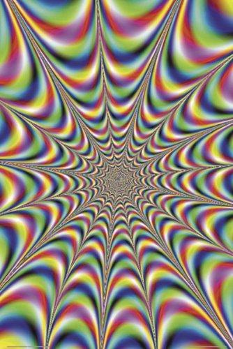 Buyartforless Psychedelic Fractal Illusion 36x24 Art Print Poster Wall Decor Mind Altering