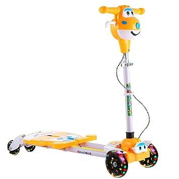 Minmin Scooter para niños Rana Tijeras de 2 a 6 años de Edad Los niños Usan 4 Ruedas con patineta ...
