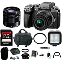 Panasonic LUMIX G7 Camera Kit (Silver) with 14-42mm and 35-100mm Lenses