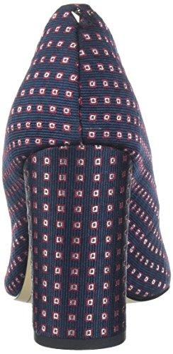 12 Uk Femminile Pompa Tessuto Blu Cravatta Geometrica Multicolore Capretto Nero Stillson Sam Lea Edelman Sue Hwwzf8qa