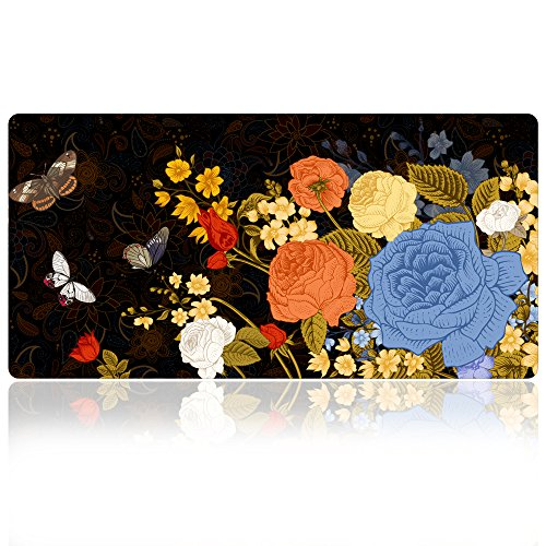 (Extra Large Mouse Pad - Floral Design Gaming or Desk Mousepad - 31.5