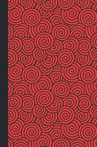 Journal: Swirls (Red) 6x9 - GRAPH JOURNAL - Journal