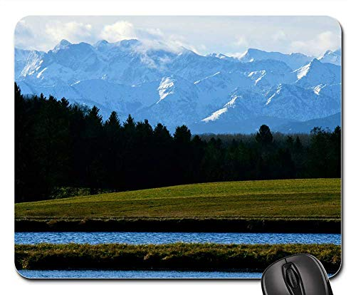 Mouse Pads - Landscape Mountain Nature Panorama Lake Alpine