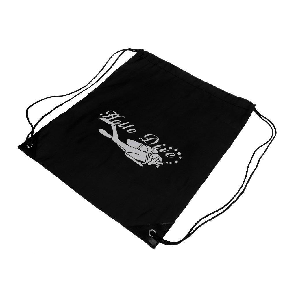 MagiDealスキューバダイビングシュノーケリングSwimジムDrawstring bag with shoulderストラップバックパック B075CNMLZC