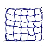 uxcell 6 Hooks Hold Bungee Cord Blue Motorcycle Cargo Net Mesh 35 x 35cm