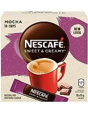NESCAFÉ Sweet and Creamy Mocha Instant Coffee Mix Box, Mocha, 6 Count