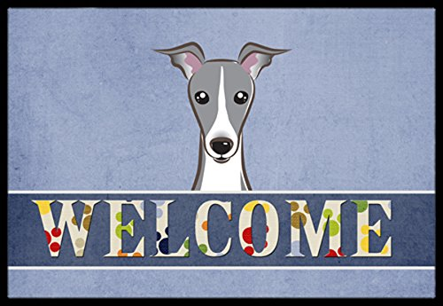 """Caroline's Treasures BB1422MAT Italian Greyhound Welcome Indoor or Outdoor Mat, 18 x 27"""", Multicolor"""