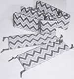 Crib Bumpers for Cribs with Attached Changing Table Ikat Zigzag Grey Bumper Pad