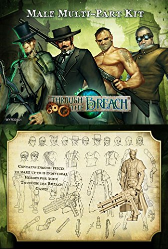 [Wyrd Miniatures Malifaux Through The Breach Male Multi-Pose Figures Model Kit] (Horror Makeup Value Kit)