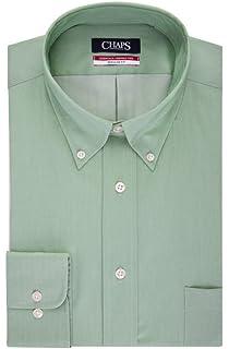 Navy Size 17-17 1//2 36-37 Chaps Mens Regular Fit Herringbone Twill Shirt