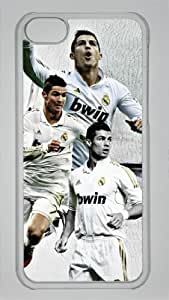 Real Madrid Cristiano Ronaldo Custom PC Transparent Case for iPhone 5C by icasepersonalized