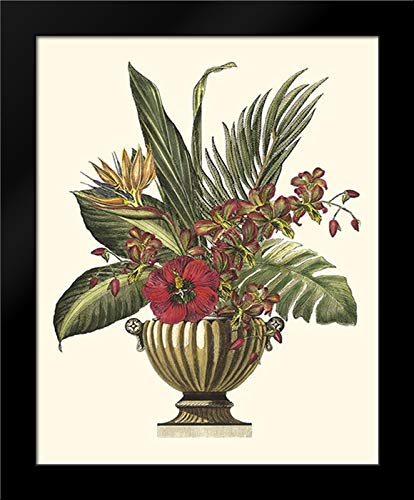 Tropical Foliage in Urn I 15x18 Framed Art Print by Vision Studio