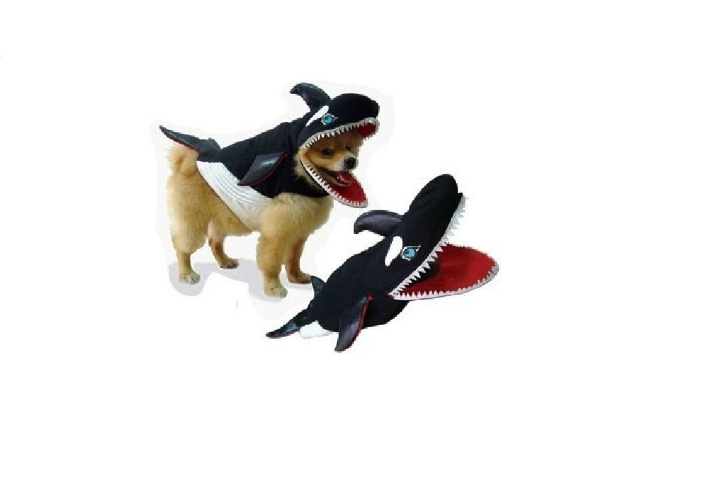 Killer Whale Dog Costume Realistic Orca Foam Body Gills Big Teeth