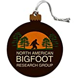 North American Bigfoot Research Group Wood Christmas Tree Holiday Ornament