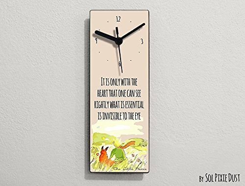 The Little Prince Quotes1 - Le Petit Prince Quotes -It is only with the heart that one can see rightly what is essential- Wall - Petite What's