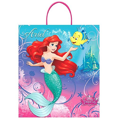 Amscan Disney Birthday Ariel & Flounder Loot Bag Party Favour, Multicolor, 16
