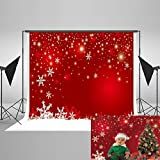 Kate 7x5ft Red Holiday Backdrops for Photography Snowflake Dreamlike Photo Background Photo Booth Props