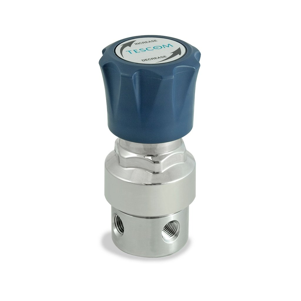 TESCOM SG165151V SG1 Single-Stage Pressure Regulator 1//4 NPTF 1//4 NPTF SST Body//Diaphragm 5 Port 0.06 CV Teflon Seals 0-250 PSIG Out