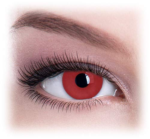 Womens Pair Eye Color Change Eye Accessories Red Block -