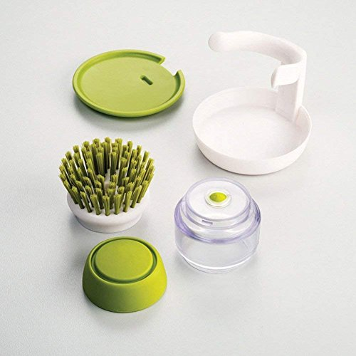 Soap Dispensing Palm Brush - Kitchen Cleaning Brush Scrubber