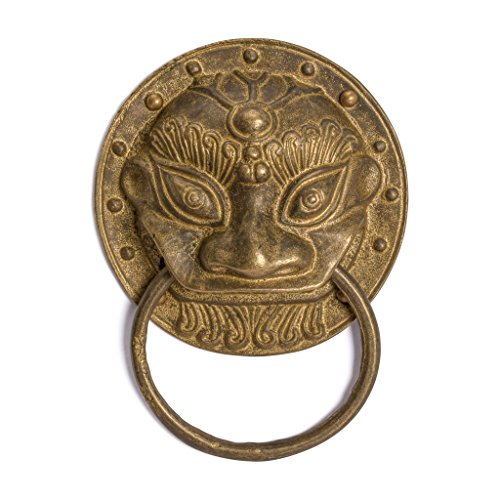 CBH Chinese Angry Lion Brass Door Gate Pull Hardware ()