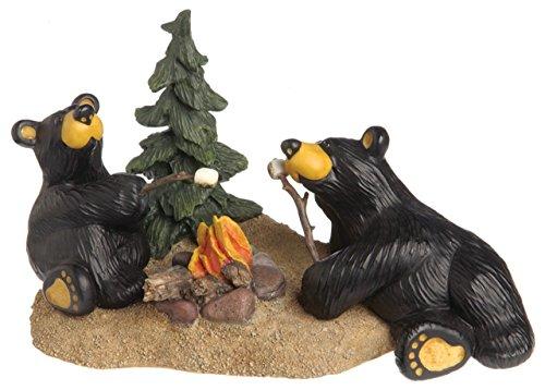 Demdaco Campfire Memories Black Bear 4.5 x 8 Hand-cast Resin Figurine (Black Bear Figurine)