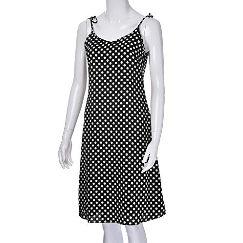 Girls Christmas Dress Maternity Dresses For Photography 2019 Sale Women's Summer Fashion Polka Dot Long Chiffon Sling Holiday ()
