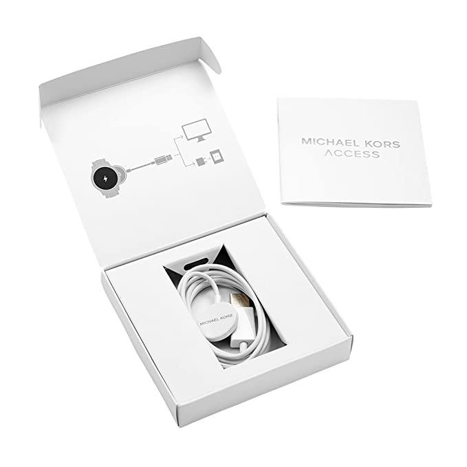 196f3a745bf1 Amazon.com  Michael Kors Access Gen 1 Smartwatch Charger - White (Model   MKT0001)  Watches