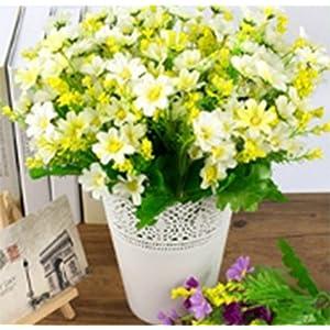 Mistari 3 Pcs Plastic Artificial Flowers Daisy Flowers Fake Silk Flowers Home Decorative Party Wedding 51